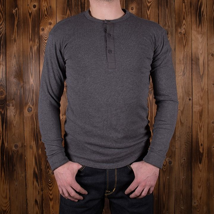 Pike Brothers 1927 Henley Iron Grey Long sleeve Shirt - Kings & Queens