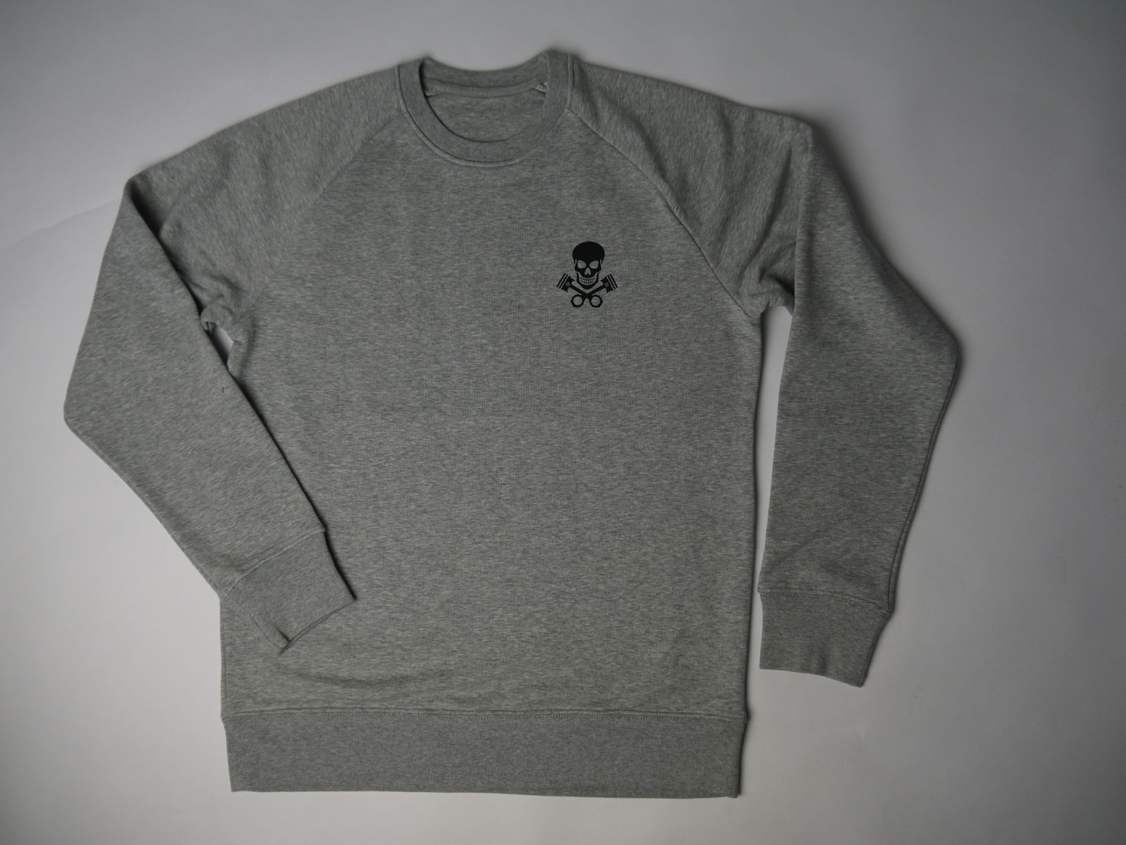 Kings & Queens Skull Logo Grey Melange Sweater - Kings & Queens