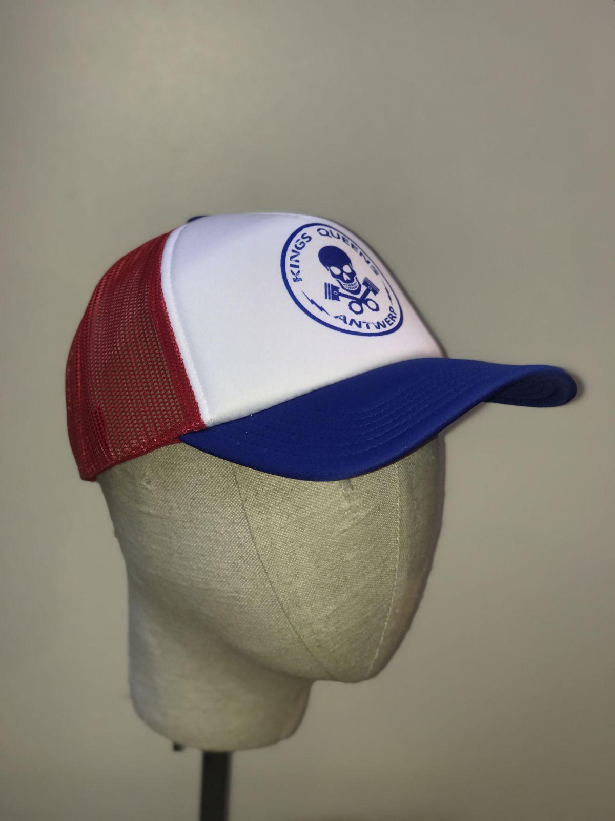 Kings & Queens Skull Logo Cap Blue/Red/White - Kings & Queens