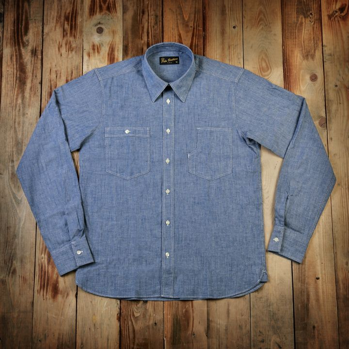 Pike Brothers 1937 Roamer Shirt Chambrey Blue - Kings & Queens