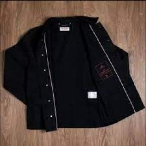 Pike Brothers 1936 Chopper Jacket Pitch Black 16oz - Kings & Queens