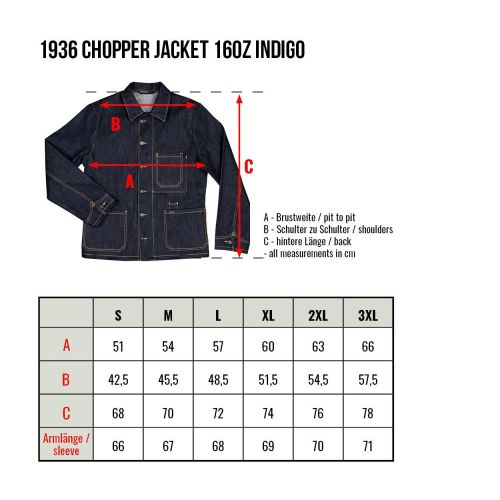 Pike Brothers 1936 Chopper Jacket 16oz - Kings & Queens