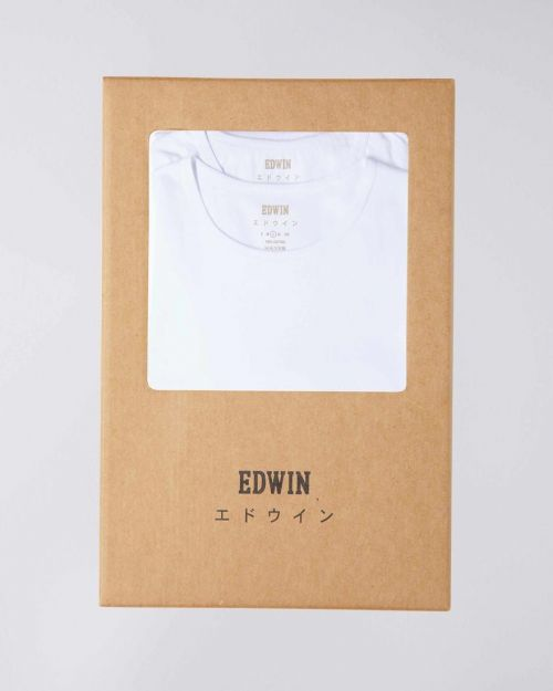 Edwin Double Pack Tee White - Kings & Queens
