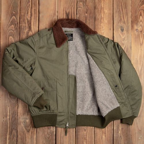 Pike Brothers B-10 Flight Jacket Olive - Kings & Queens