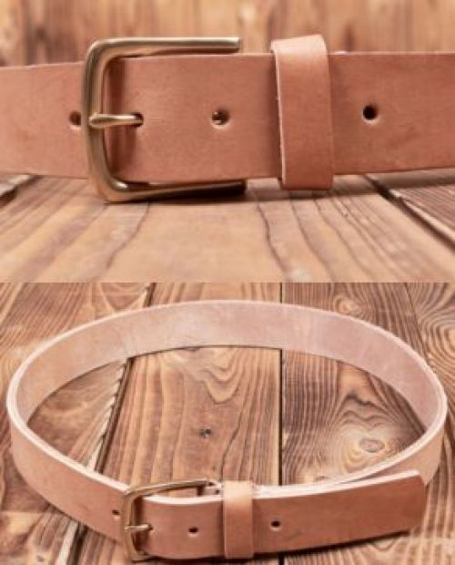 Pike Brothers Chopper Belt Natural - Kings & Queens