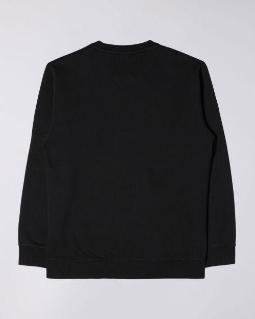 Edwin Sun Set Crew Sweater Black - Kings & Queens